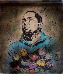 C215 - Portrait of a graffiti writer (C215) Tags: portrait streetart paris france art french graffiti stencil christian aerosol atom pochoir spraycans masacara szablon c215 schablon gumy piantillas guemy
