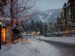 Evening Stroll in Whistler B.C. (1bluecanoe) Tags: christmas winter canada night canon whistler lights village bc britishcolumbia explore getty s2is skitown explored 1bluecanoe