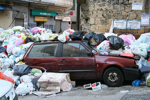 Naples has descended into chaos with their landfill sites overflowing,
