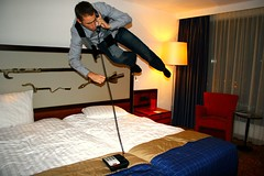 """Yes, I wanted to complain about the lack of gravity in my room"" (joelfrijhoff) Tags: amsterdam jump bed phone phonecall gravity float 020 mercure hotal damsko canoneos30d bedjump joelfrijhoff canon1855mm3556 creativecomments wwwjoelfrijhoffcom"