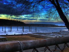 Cold Spring Harbor (slamchampion) Tags: winter sunset ice water nova clouds hdr coldspringharbor tonemapped aplusphoto goldstaraward novaphoto dlmethod