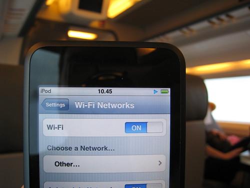 Still no WiFi on the train