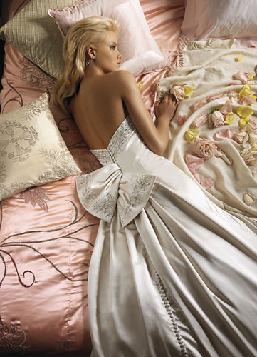 A Sleeping Sexy Bridal in her Sexy and Elegant Wedding Gown