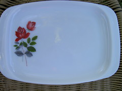 JAJ June Rose platter