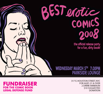 March 5th Best Erotic Comics 2008 official release party