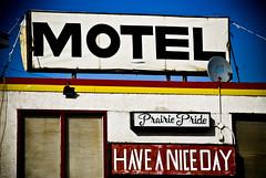 Prairie Pride (Dave Clark Photgraphy) Tags: blue yellow motel haveaniceday satalite prairiepride