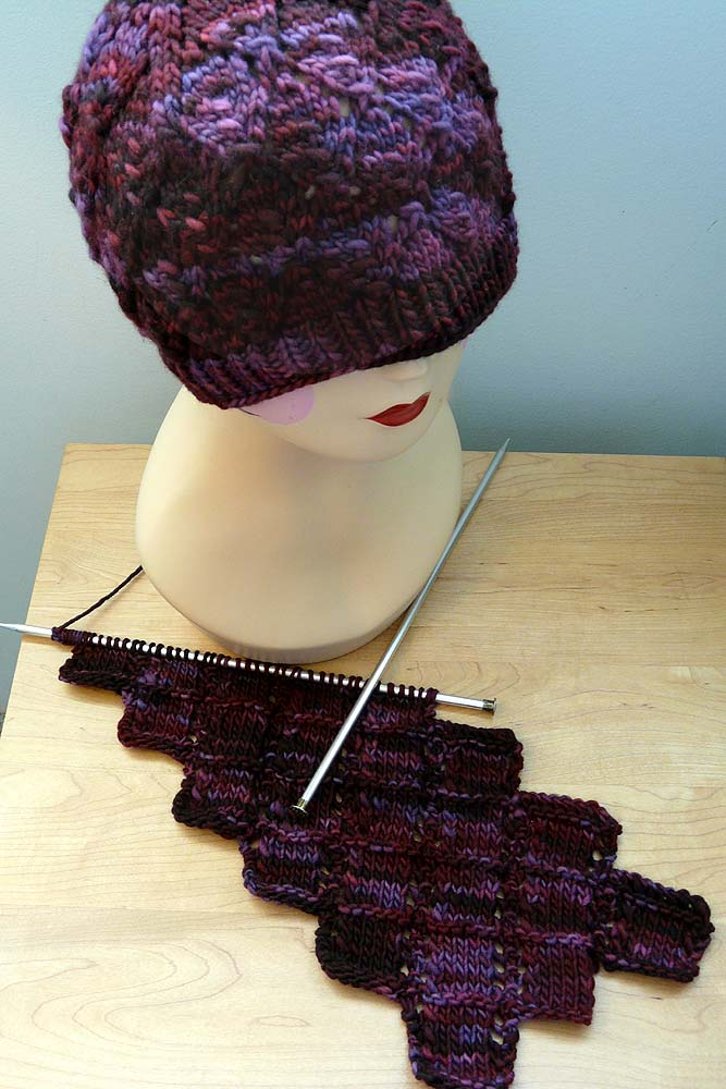 Velvet Grapes Hat & Scarf