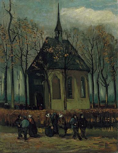 Het_uitgaan_van_de_Hervormde_Kerk_te_Nuenen