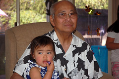 Julia with grandpa Del