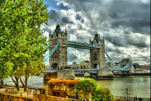 London Tower Bridge Tone Mapping