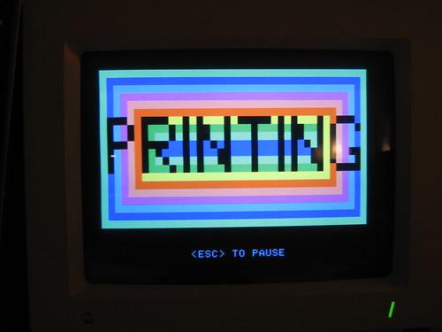 apple matrix printer dot retro 8bit serial imagewriter