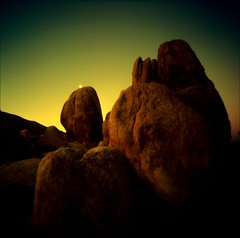 ~ By the Light of a Dying Moon (Mackeson) Tags: belair film landscape buddha joshuatree buddhism slidefilm pinhole nomad hemingway metaphysics zeroimage 57chev