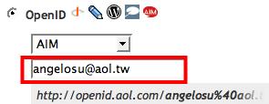 OpenID use AOL