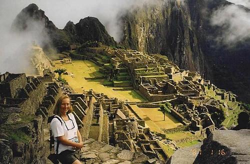 Ros hiking at Macchu Picchu 2001