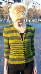 Tempest Front (weaverknits) Tags: design knitting knit tempest cardigan knitty fleeceartist bluefacedleicester weaverknits