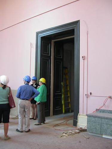 doorway -- maybe 12 ft?