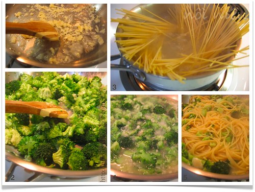 Pasta with Broccoli and Garlic Sauce