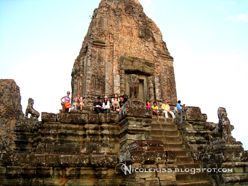 sunset watchers at pre rup