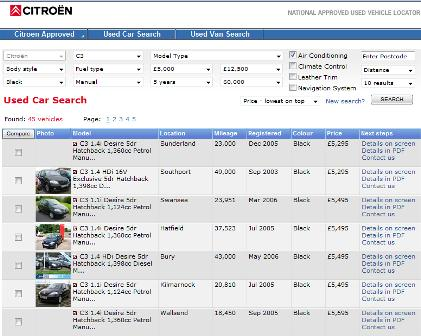 Citroen used car search