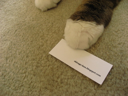 Chicago and his MOO card