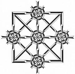 squarecircleweave (Marguerite1997) Tags: blackandwhite geometric composition diamonds grid squares circles symmetry autocad balance depth weaves zentangles zentanglepattern zentangleinspiredart zentanglegreetingcards