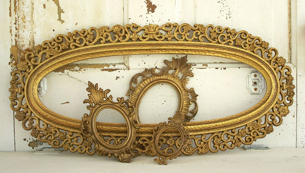vintage picture frames rococo hollywood regency style