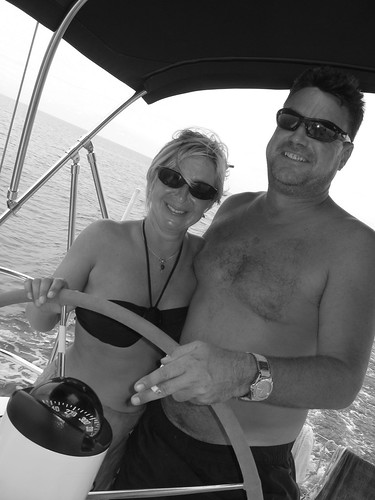 Skipper Steve and First Mate Ellie near Puerto Rico