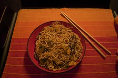 "Noodles with ""stuff"" - huge quantity"