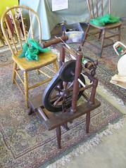 Antique wheel made in Connecticut