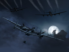 Owl Hunt (SSP.Simplex) Tags: screenshot owl lancaster aviationart msfs nightfighter