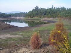 encoro da Baxe por debaixo do 40% da súa capacidade, outono de 2007
