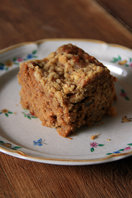 Apple Anadama Coffee Cake