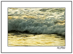 Sunset color on the wave (Paul Wiryantho) Tags: ocean sunset bali color nature water canggu wafe mywinners
