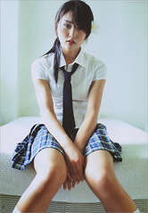 School Girl (g2slp) Tags: japan tie kawaii schoolgirl japanesegirl tiegirl