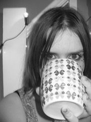 ridiculously vain (so now, then.) Tags: blackandwhite house butterflies makeup mug eastdulwich vain greyscale