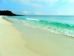 Hyams Beach (Monique Barber) Tags: ocean blue sea white beach water seaside sand aqua wave australia hyamsbeach jervisbay whitestsandintheworld worldswhitestsand