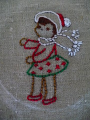 Embroidered Holiday girl