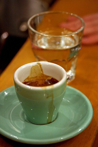 Sam's Single Origin Espresso with water