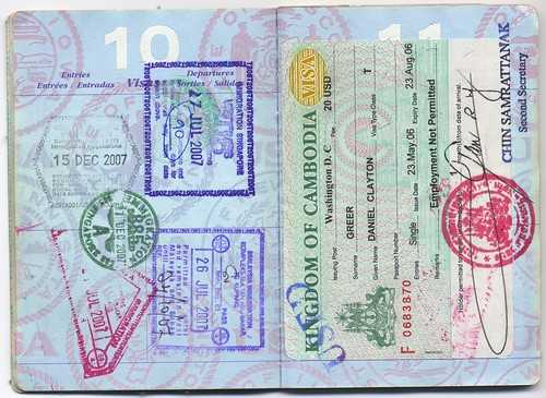 Usa Passport Singapore Malaysia Cambodia Visa A Photo On Flickriver