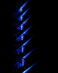 Diagonal blues (michaelab311) Tags: blue abstract nightshot nacht lka blues diagonal blau dsseldorf soe duesseldorf schrg blueribbonwinner mywinners anawesomeshot colorphotoaward michaelab311 dazzledorf flickrjobdiff flickrjobprem theperfectphotographer michaelab
