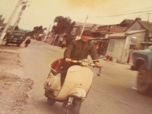 騎著vespa的老爸