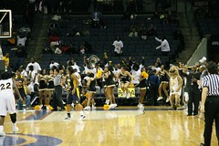 Bowie State University vs. Johnson C. Smith University Women's Semifinals (Kevin Coles) Tags: sports basketball bowie university cheerleaders charlotte tournament cheer ncaa 2008 bulldogs bsu queencity goldengirls divisionii hbcu ciaa bowiestate soulabration ciaatournament