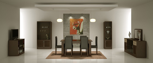 Selena - Dining Room Furniture Rendering