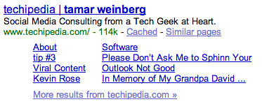 Tamar Weinberg Site Links
