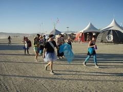 BM 07: Impromptu Marching Band (a3rynsun) Tags: desert band burningman bm marching impromptu 2007