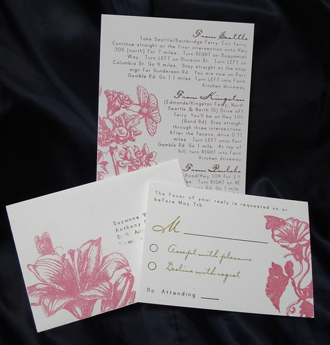 Wedding Invitations - Suzanne and Anthony, Wedding invitation idea, wedding invitation sample, wedding invitation, flowers, photos