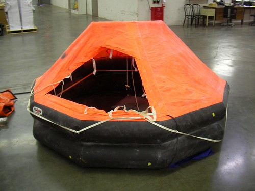Raft inflated