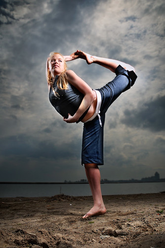 Picture of hot blond yoga model