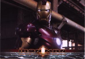 front of the Iron Man P2 trading card