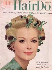 Sara Thom, Hairdo, Sept 1963 (incurlers) Tags: magazine hairdo 1960s rollers 1963 curlers wetset rollerset sarathom
